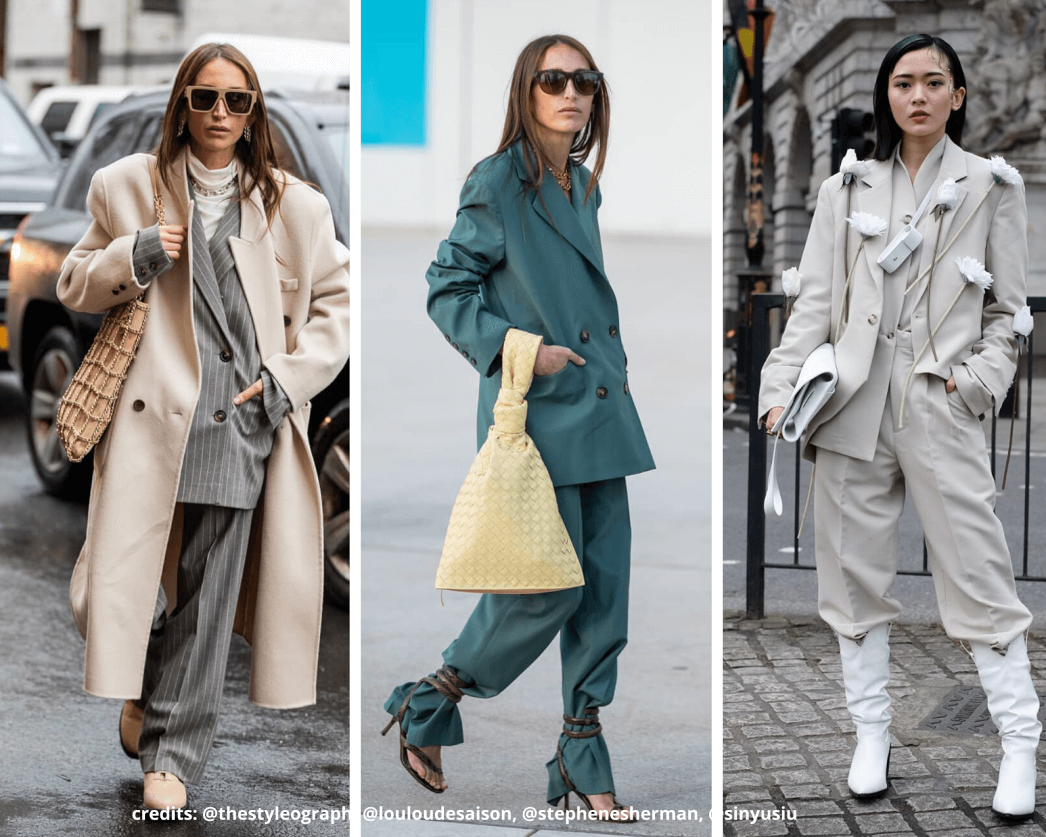 AW20 LFW street style fashion trends suit