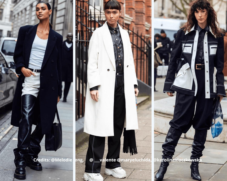 AW20 monochrome LFW fashion trend