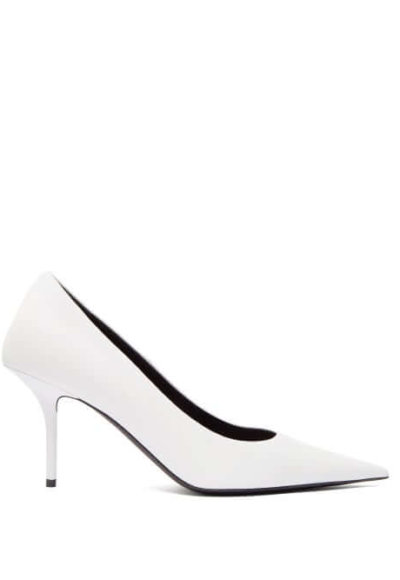 white Balenciaga pumps