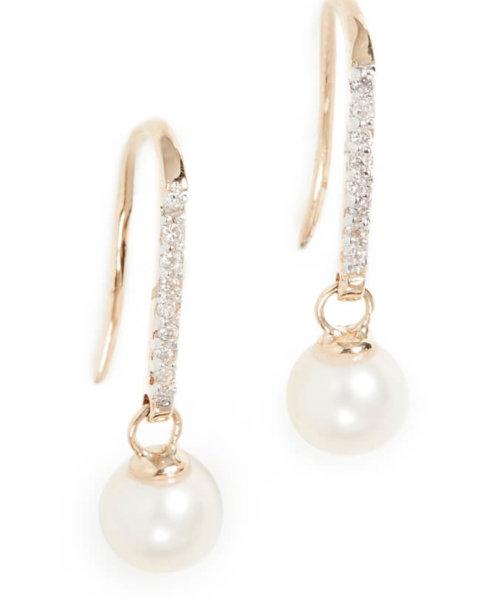pearl earrings 14k gold lfw aw20