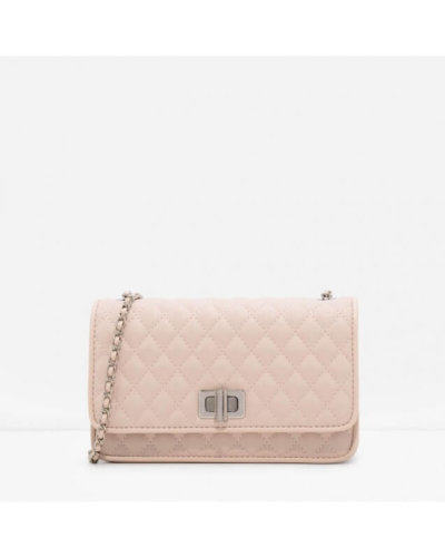 Charles and Keith valentines day outfit light pink quilted bag