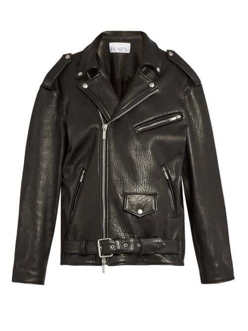 AW20 LFW London fashion week trends black leather jacket