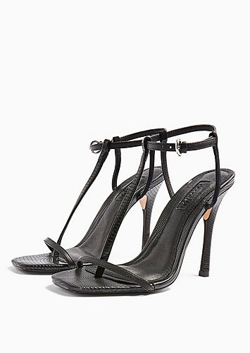 topshop black t bar high heels