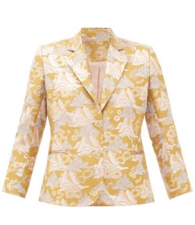 sustainable fashion Ssone - Echo Single-breasted Brocade Blazer - Womens - Multi
