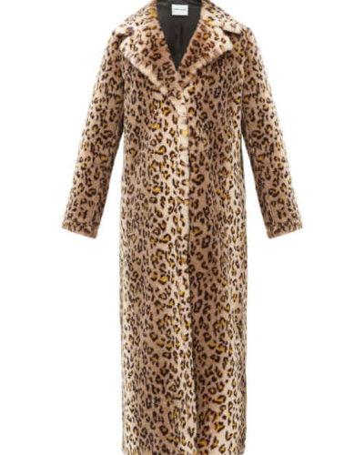 LFW AW stand studio leopard coat