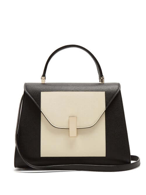 AW20 LFW Valextra - Iside Medium Grained-leather Bag - Womens - White Black