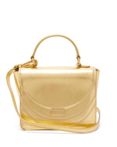 Wandler - Luna Mini Metallic Leather Cross-body Bag - Womens - Gold