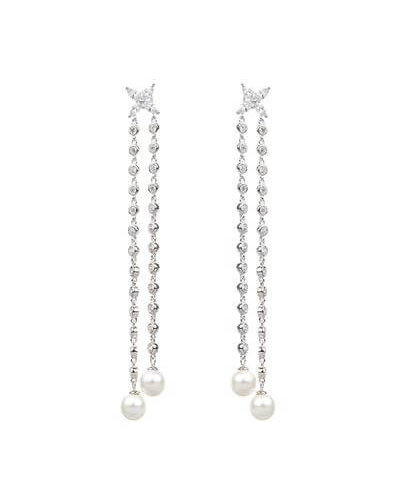 Avilio London dual chain shell pearl drop earrings valentines day outfit