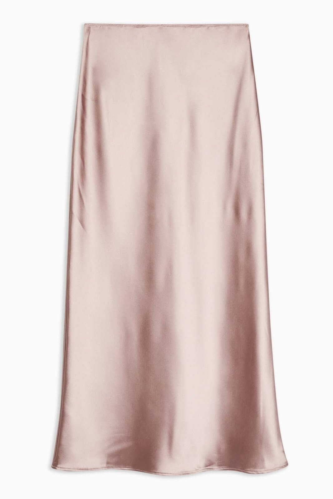 topshop valentines day dusty pink satin maxi skirt