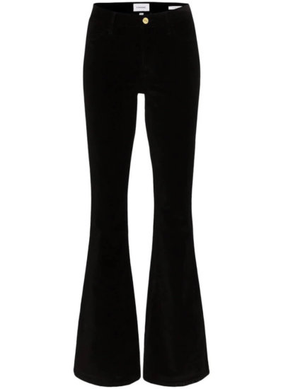 FRAME Le High flare velvet jeans