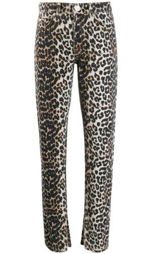 Positively Conscious GANNI leopard slim-fit jeans £144