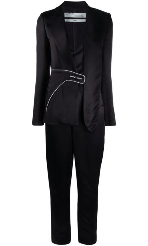Off-White collage blazer jumpsuit - Black