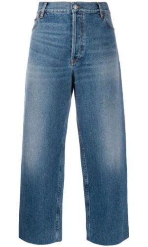 BALENCIAGA cropped denim trousers £425