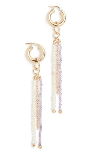 Gaviria Island Disco Lavender Earrings