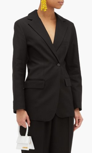 Jacquemus Asymmetric Double-breasted Hopsack Jacket