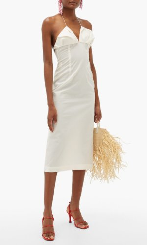 Jacquemus - Bambino Halterneck Pleated Dress