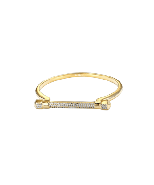 Opes Robur gold cuff bracelet