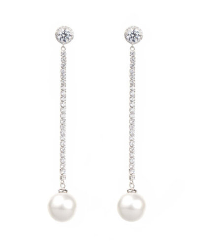 avilio London silver pearl drop earrings