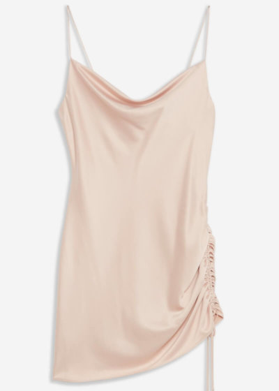toyshop satin slip dress blush pink