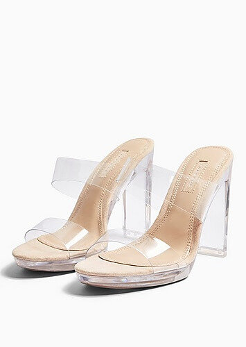 Topshop Transparent heels valentines day outfit
