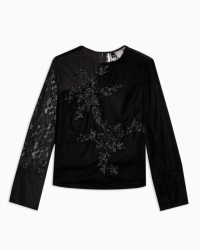 toyshop black embellished lace top valentines day outfit