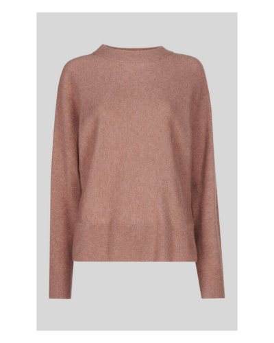 whistles valentines day outfit pale pink cashmere knit