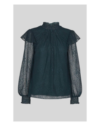 whistles lace top dark green animal valentines day outfit idea