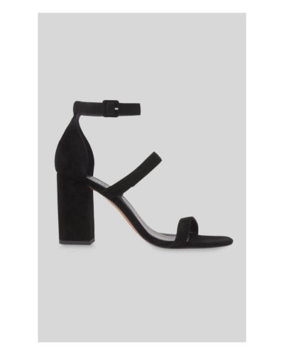 whistles valentines day outfit black sandal heels