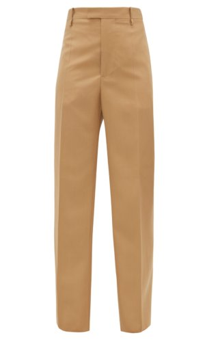 Bottega Veneta - High-rise Wool-twill Straight-leg Trousers