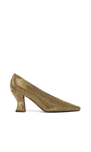 Bottega Veneta - Almond Crystal-embellished Suede Pumps