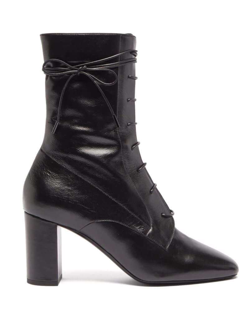 Laura lace-up leather ankle boots