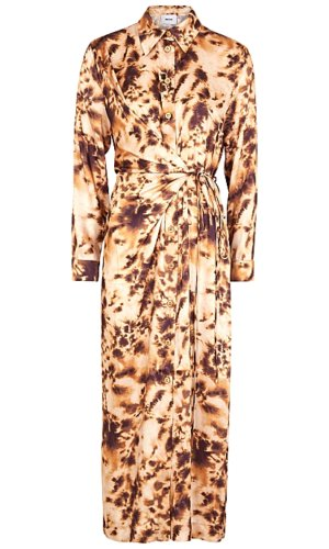 Nanushka Bisso Printed Wrap-Effect Satin Dress