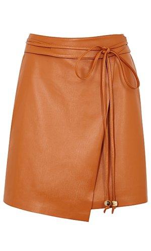Sekoya Brown Faux Leather Skirt