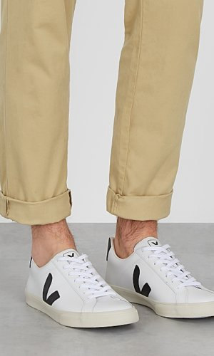Veja white leather sneakers Black