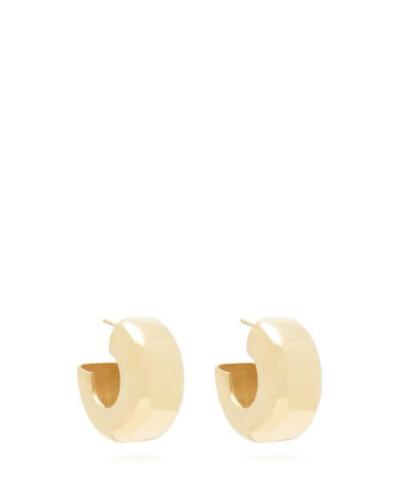 All Blues - Tire Gold-vermeil Hoop Earrings - Womens - Gold