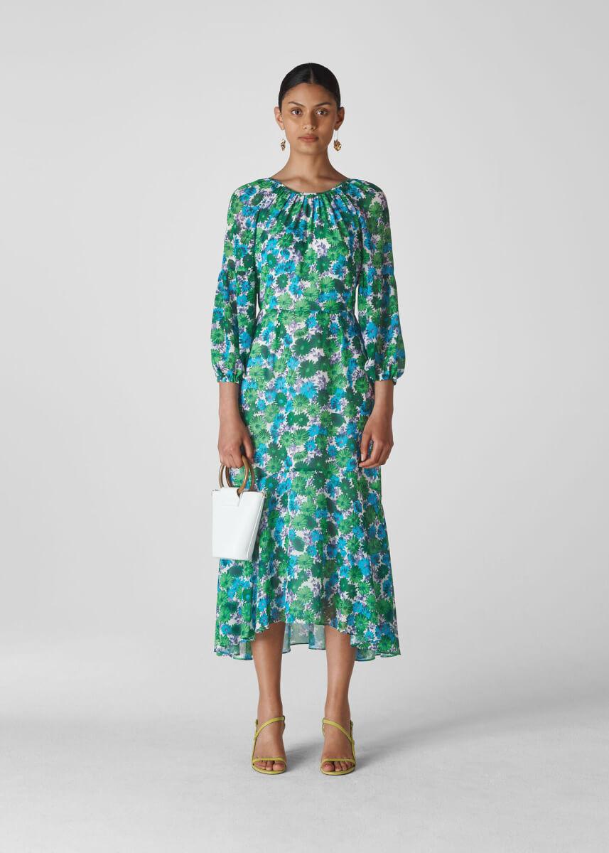 spring essentials whistles floral blue dress