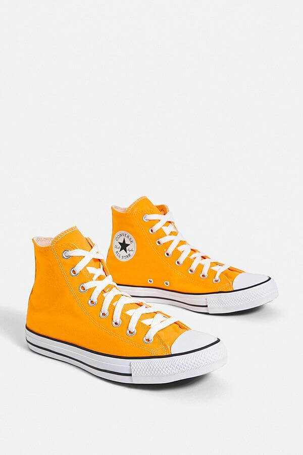 spring essential topshop Converse Chuck Taylor All Star Orange Seas High Top Trainers