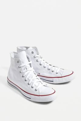 Converse Chuck Taylor All Star White High Top Trainers - white UK 10 at Urban Outfitters