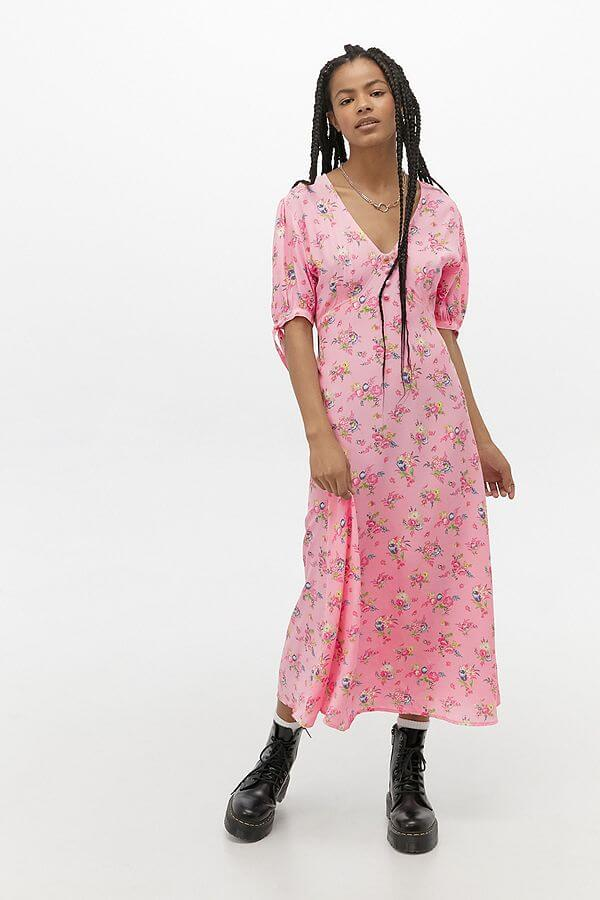 spring essential urban outfitters midi dress