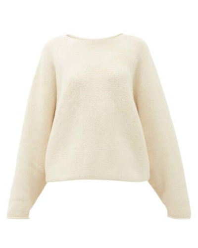 Lauren Manoogian - Wide-neck Alpaca-blend Sweater - Womens - White