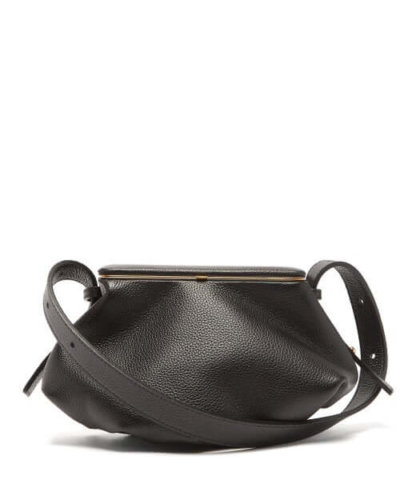Sustainable fashion Lutz Morris - Bates Small Grained-leather Shoulder Bag - Womens - Black