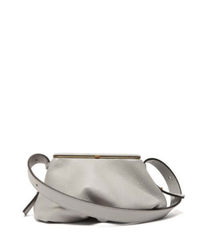 Lutz Morris - Bates Small Grained-leather Shoulder Bag - Womens - Grey