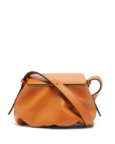 Sustainable fashion Lutz Morris - Bates Small Grained-leather Shoulder Bag - Womens - Tan