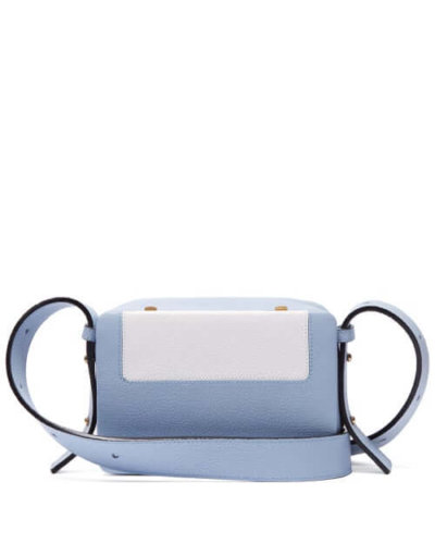 Sustainable fashion Lutz Morris - Maya Intarsia Leather Cross-body Bag - Womens - Light Blue