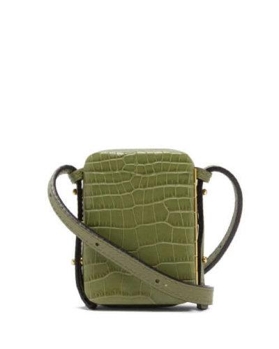 Sustainable fashion Lutz Morris - Norman Mini Crocodile-effect Leather Bag - Womens - Khaki