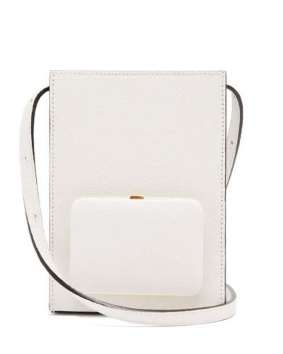 Lutz Morris - Parker Grained-leather Cross-body Bag - Womens - Ivory