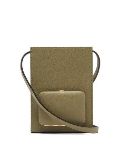 Lutz Morris - Parker Grained-leather Cross-body Bag - Womens - Khaki