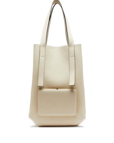 Sustainable Fashion Lutz Morris - Seveny Grained-leather Tote Bag - Womens - Cream Multi