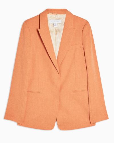 spring essential topshop orange Orange Single Breasted Blazer