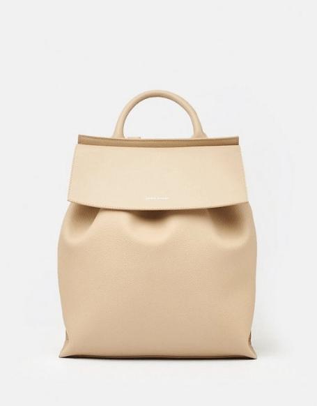 Karen Miller Leather Backpack - Natural